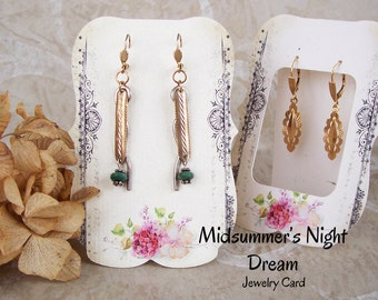 24•Zoe•Midsummer's Night Dream•2.5 x 3.5 inch•Tent Cards•EARRING CARDS•Jewelry cards•Earring Display•Earring Card•Earring Holder