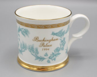 1994 Buckingham Palace White Blue Gold Mug Royal Commemorative