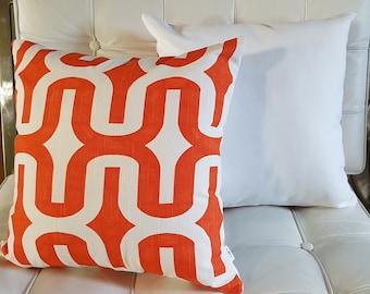 Orange and white retro
