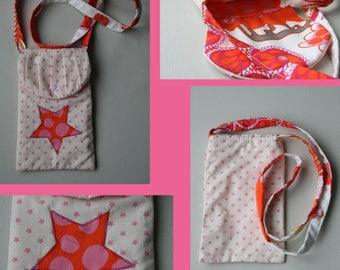 Pink star shoulder clutch bag