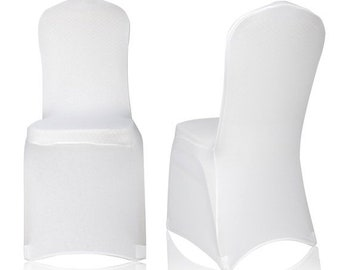 ON SALE Universal White Polyester Spandex Folding Chair Cover Wedding Party