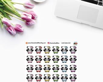 Amanda The Panda ~ BALLET Lesson ~ Ballerina ~ Planner Stickers CAM PANDA 009