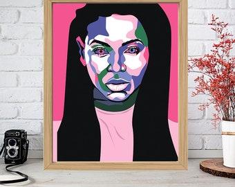 BEYONCE Print - Colorful Poster Drawing Art