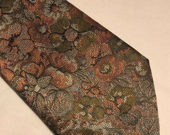 Vintage paisley polyester clip on tie