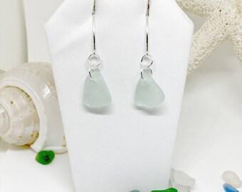 Sea Glass Earrings, Beach Glass Jewelry, Beach Earrings, Lake Erie Beach Glass, Seaglass Jewelry, Sea Glass, Seaglass, Beach Gift for Mom