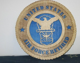 Air Force - 12 inch Wooden Wall Tribute FREE SHIPPING
