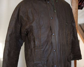 Waxed Cotton Oilskin Coat by Mascot (42 Inch 107cm Chest)