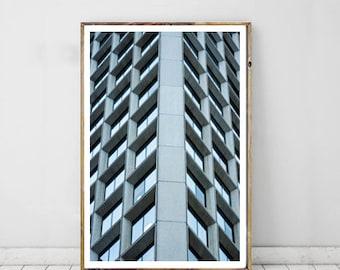 Urban Modern Photography, Window Building Printable Art