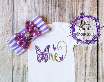 Butterfly First Birthday Outfit, First Birthday Girl Outfit, Baby Girl Gift, Butterfly Shirt, Baby Girl Outfit, First Birthday Outfit