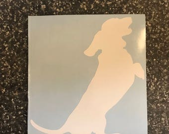 Dachshund (wiener) dog Decal