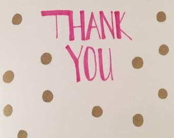 Polka Dot Thank You Card(8 pack)