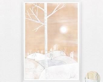Snowville A3 Print