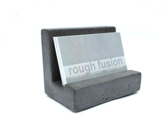 Business card holder etsy sale concrete business card holder colourmoves