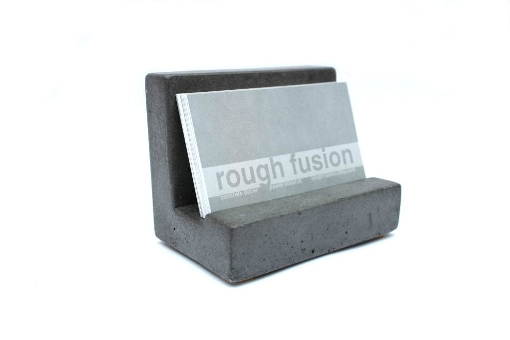 Sale concrete business card holder zoom reheart Gallery
