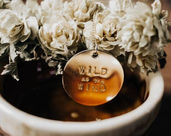 wild as the wind // large coin necklace