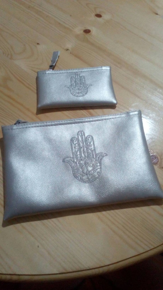 Pouch Has Hand Moroccan Pouch With Symbol Khmissa Shipping
