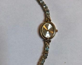 Quartz aquamarine Watch