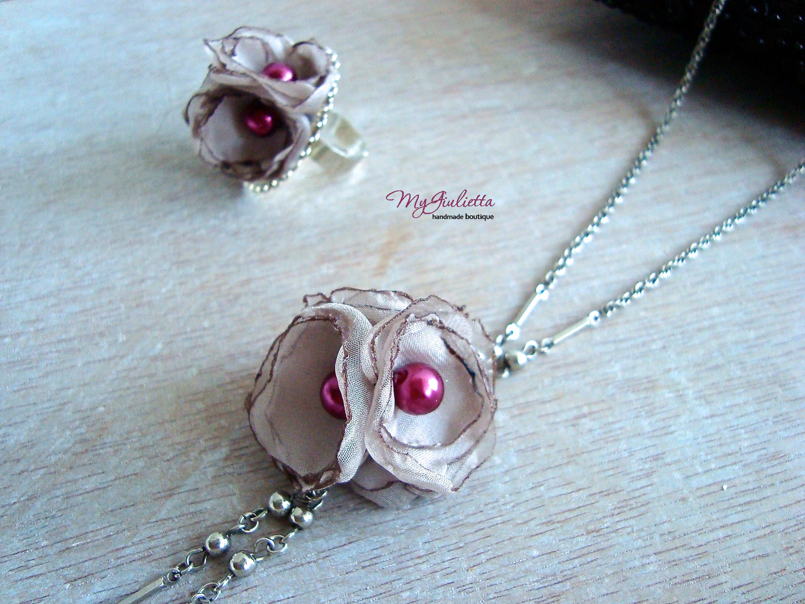 fabric madeheart cute handmade woolen elegant com product unusual accessory necklace en textile jewelry