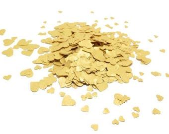 Tiny Gold Paper Heart Confetti