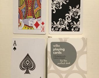commercial  company, Wilko playing cards. plastic coated  finish.