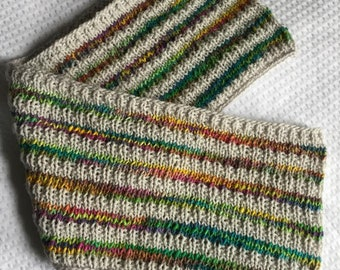 Variegated Stripes Infinity Scarf
