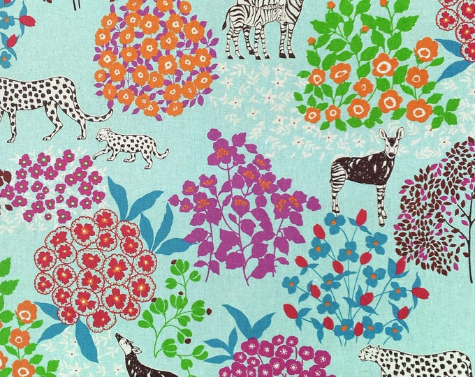Echino by Etsuko Furuya - Cotton Linen Fabric - Bond EF704 Blue, 33 inches - last one