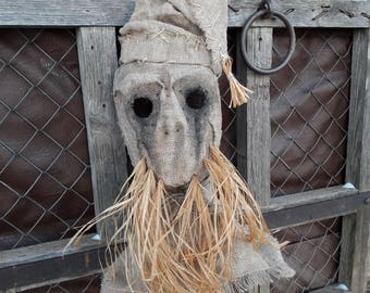 """Mask Scarecrow """"Bearded hat"""", horror, halloween, masquerade, free shipping"""
