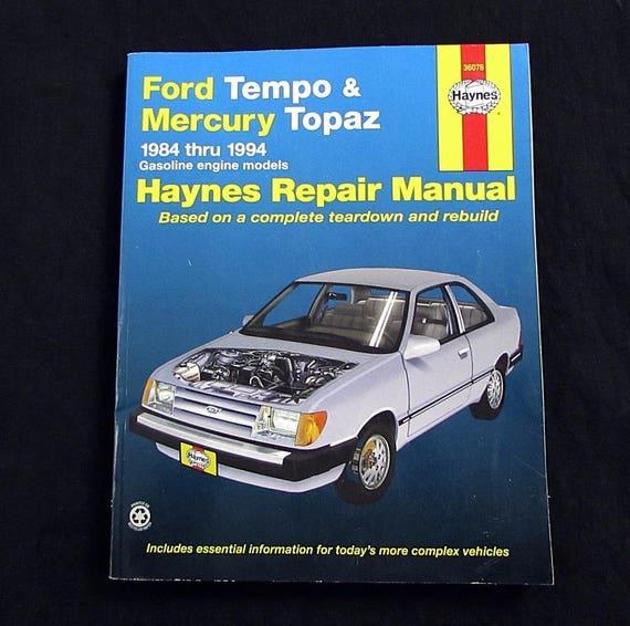 haynes repair manual 1984 1994 ford tempo mercury topaz rh etsy com 1984 Chevy Wagon Classic Chevy