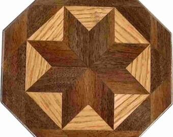Walnut-Oak Trivet
