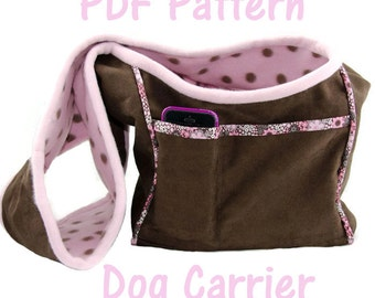 Dog Carrier PDF Sewing Pattern, Small Dog Purse