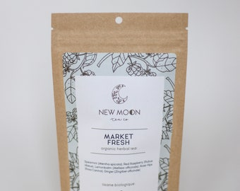 Market Fresh Herbal Tea | ORGANIC | Small Batch, Hand Blended | New Moon Tea Co.
