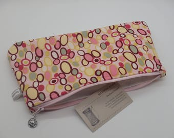 Peach Pouch, Makeup Bag, Cosmetics Clutch, Gadget Bag, Toiletry Bag, Gifts for Her, Teacher Gifts, Coworker Gifts, Gifts for Girls