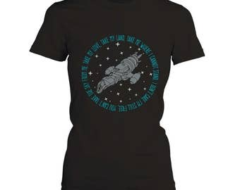Firefly Serenity Women's T-Shirt Featuring the Ballad of Serenity - Sizes XS-2XL