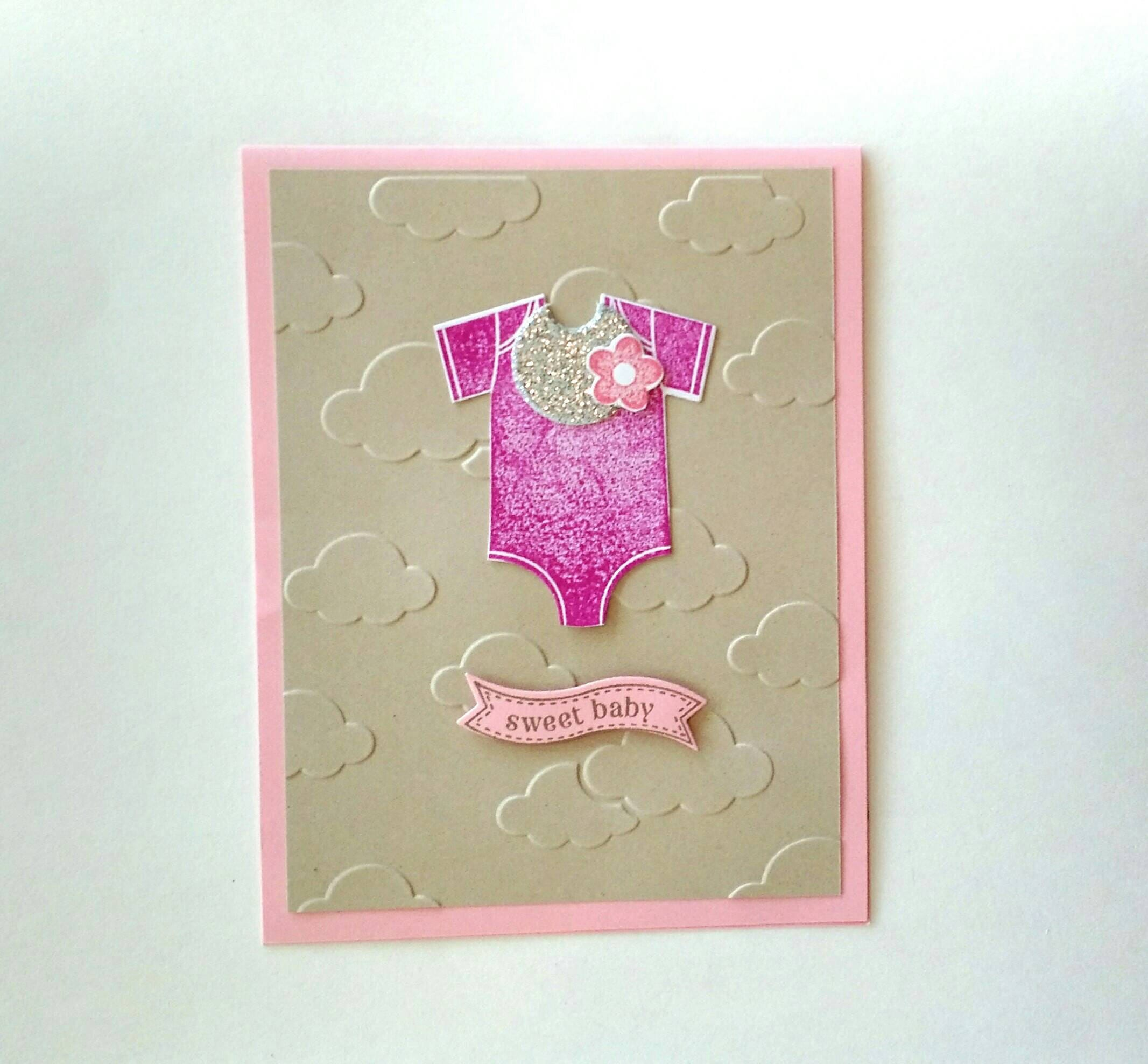Baby Card New Baby Card Baby Girl Card Stampin Up Card