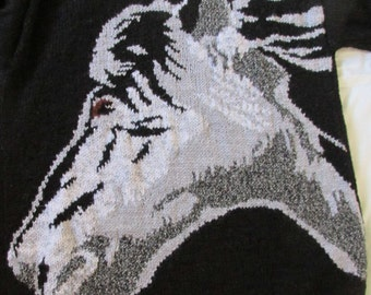 Hand knitted Horse Sweater