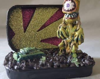Weird Alien Miniature Monster Diorama