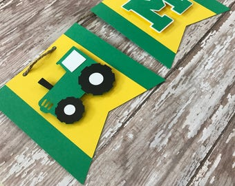 Tractor Banner - Tractor Birthday - Tractor Party - Tractor Theme  - Green and Yellow Tractor - Tractor First Birthday - Baby Shower