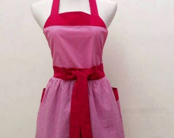 Retro  apron| Cute apron|full apron| vintage apron|classic retro apron|FREE SHIPPING