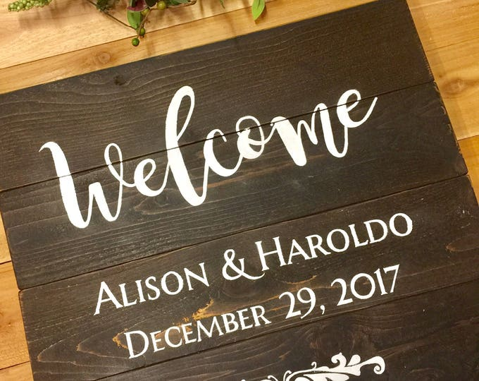 Wedding Signs. Wood Wedding Welcome Sign. Wedding Welcome Sign. Anniversary Gift. Wedding Gift. Bridal Shower Gift. Family Sign Wood