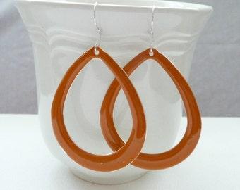 nd-Tangerine Open Teardrop Dangle Earrings