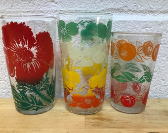 Vintage juice glasses lot