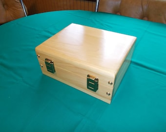 Handcrafted keepsake box w/polyurethane pine handcrafted in USA