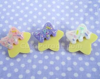 Glittery Sugar Cookie Star Pin with Sprinkles (Pick One) Kawaii Fairy Kei Pastel