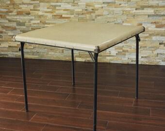 Samsonite Card Table  Mid Century Samsonite Folding Table Vintage Game Table