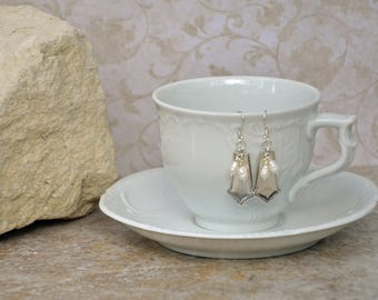 Spoon Earrings with Pearls..Unknown Pattern...679P