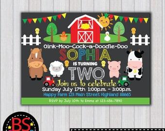 FARM BIRTHDAY Invitation Farm Birthday Party invitation Farm