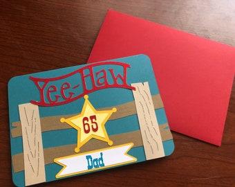 Yeehaw Sheriff Card