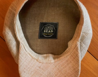 The FIVE POINTS 'Summer Straw' - 1910's-Pattern Flat Cap in Hand-Woven Undyed Hemp Straw - Made to Order