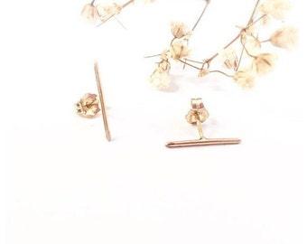 Gold Bar Stud Earrings, Bar Earrings, Stud Bar Earrings, Bar Stud Earrings, Silver Bar Earrings, Slim Earrings, Minimalist Earrings