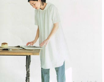 Comfortable Casual Tunic & One Piece Dress Patterns, Simple Japanese Style Outfit Clothing, Easy Sewing Tutorial Book, Michiyo Ito, B1851